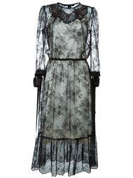 декорированное кружевное платье  Marc Jacobs