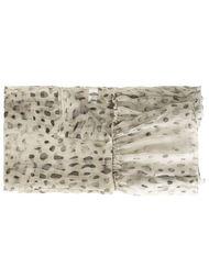 шарф с пятнистым узором Agnona
