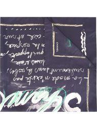 платок с меловым принтом Chanel Vintage