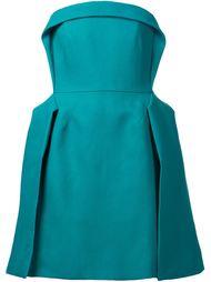 плиссированное платье без бретелек Delpozo
