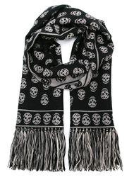трикотажный шарф 'Skull'  Alexander McQueen