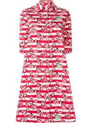 расклешенное полосатое платье-рубашка Ultràchic