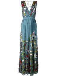 длинное платье с цветочной вышивкой Alice+Olivia