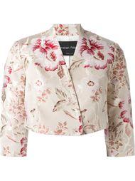 укороченный пиджак с цветочным принтом Christian Pellizzari