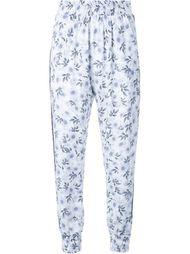 брюки с цветочным принтом Mother Of Pearl