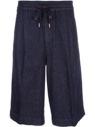 широкие джинсовые шорты monkey time