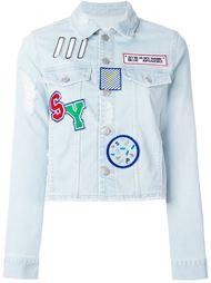 джинсовая куртка с нашивками Steve J & Yoni P