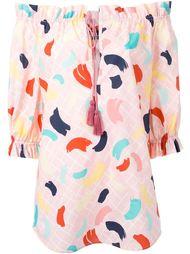 блузка с принтом мазков кисти Rossella Jardini