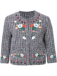 твидовый пиджак с вышивкой Steve J & Yoni P