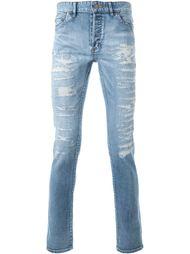 джинсы скинни с потертой отделкой Hl Heddie Lovu