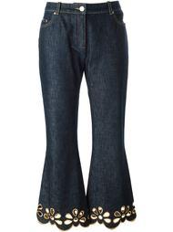 джинсы с вышивкой  Céline Vintage