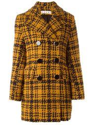 двубортное пальто в ломанную клетку Marni