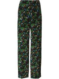 брюки с цветочным принтом Agnona