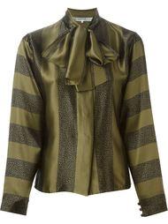 блузка с комбинированным принтом и завязкой на бант Jean Louis Scherrer Vintage