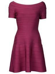 расклешенное платье с вырезом-лодочкой Hervé Léger