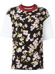 футболка с круглым вырезом в рубчик Marni