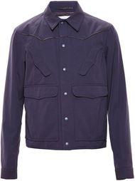 куртка с кожаной окантовкой Kolor