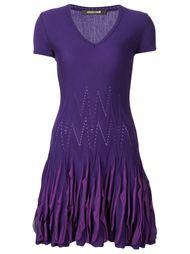 вязаное платье с оборками  Roberto Cavalli