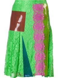 кружевная юбка миди Christopher Kane