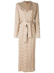 трикотажное пальто с клетчатым узором Balmain