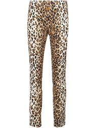 брюки с леопардовым принтом Carolina Herrera
