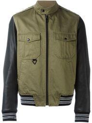 куртка с кожаными рукавами Just Cavalli