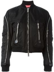 куртка-бомбер с отделкой молниями  Dsquared2