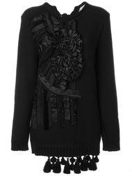свитер с цветочной аппликацией Nº21