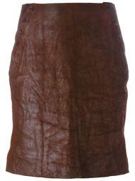 юбка с пуговичной застежкой по бокам Ma+