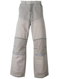 джинсовые брюки с панельным дизайном Walter Van Beirendonck Vintage