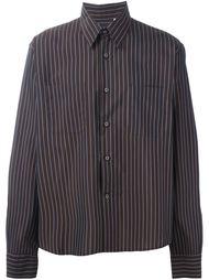 свободная рубашка в полоску Romeo Gigli Vintage
