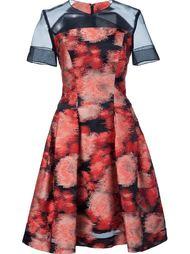 жаккардовое платье  с прозрачной панелью Carolina Herrera
