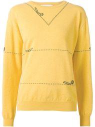 свитер с ножницами в технике интарсия Moschino