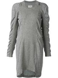 платье-свитер с присборенной отделкой рукавов Maison Margiela