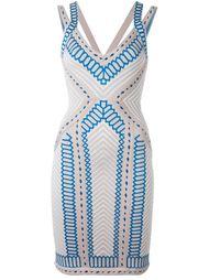 приталенное платье с орнаментом Hervé Léger