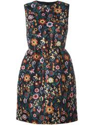 платье с цветочным принтом  Red Valentino