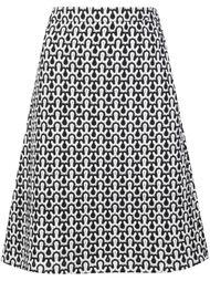 юбка А-силуэта с мелким узором Derek Lam