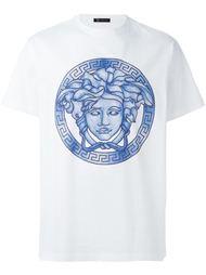 футболка с голубым принтом 'Medusa' Versace
