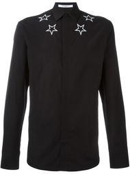 рубашка с вышивкой звезд Givenchy