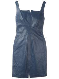 кожаное платье мини Romeo Gigli Vintage