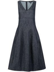 расклешенное платье с глубоким V-образным вырезом  Derek Lam