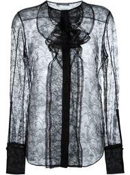прозрачная кружевная блузка Alexander McQueen