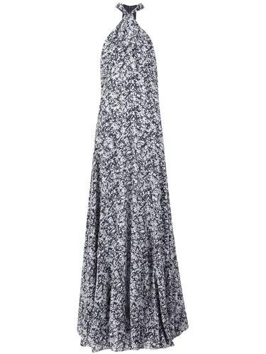длинное платье с мраморным узором Derek Lam