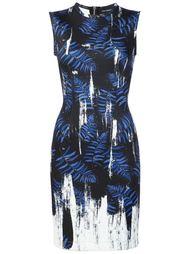 облегающее платье с абстрактным принтом Yigal Azrouel