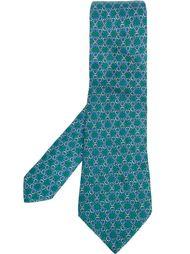 галстук с узором в виде цепей Hermès Vintage