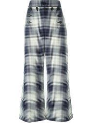 брюки в клетку Marc Jacobs