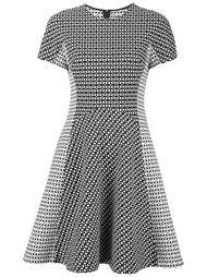 приталенное платье с короткими рукавами Lela Rose
