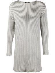 удлиненный свитер ребристой вязки Yang Li