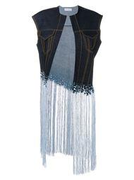 джинсовый жакет без рукавов с бахромой Faustine Steinmetz