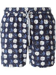плавательные шорты с принтом игральных костей Capricode
